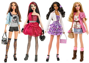 And also Barbie stakes on its popularity and in internet with the popular Barbie games that allow girls to change her hair, make-up and the whole appearance.